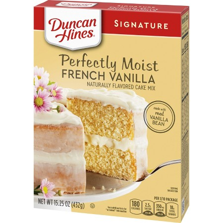 Duncan Hines French Vanilla Cake Mix Nutrition