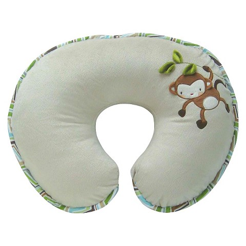 Boppy Bare Naked Pillow with Luxe Slipcover - Monkey