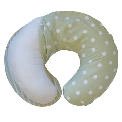 Boppy® Microfiber Nursing Pillow Slipcover - Green Polka Stripe