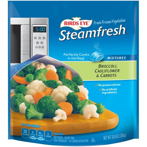 Birds Eye Steamfresh Selects Frozen Broccoli, Cauliflower & Carrots 12 oz