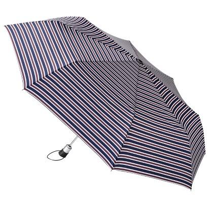 totes Family Jumbo Automatic Umbrella - Red/Blue Nautical Stripe