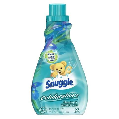 Snuggle Exhilarations Blue Iris & Bamboo Scent Liquid Fabric Softener 50 oz