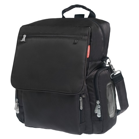 Fisher-Price Fastfinder Deluxe Convertible Backpack Diaper Bag - Black