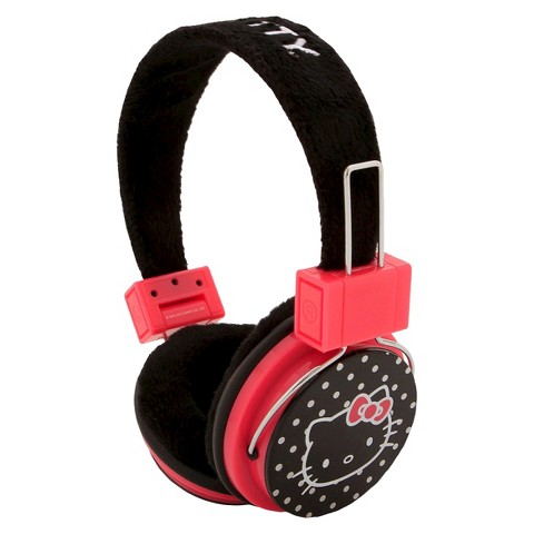 Hello Kitty Camelio Headphones - Black and Red