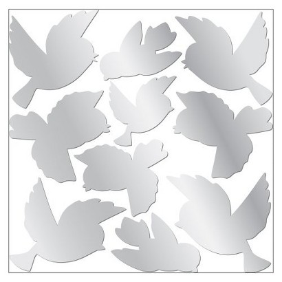 "Mirror Sweet Birds Wall Decor (12x12"")"