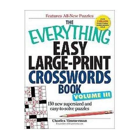 The Everything Easy Large-Print Crosswords Book (3) (Large Print) (Paperback)