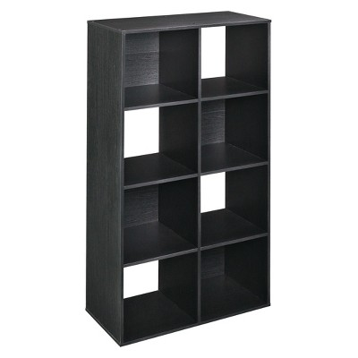 ClosetMaid Cubeicals 8-Cube Organizer Shelf - Black Ash