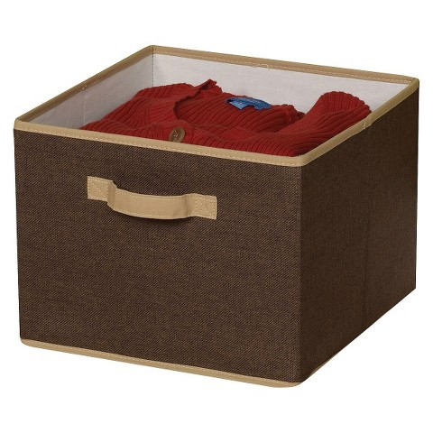 Household Essentials Fabric Cube - Brown
