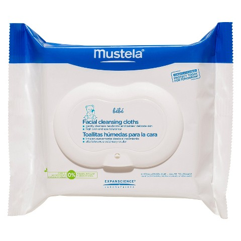 Mustela Facial Cleansing Cloths - 25 Count