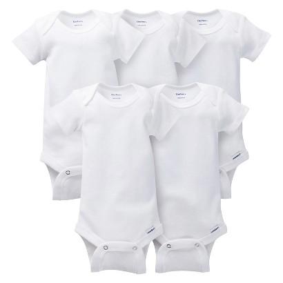 Gerber Onesies® Newborn 5 Pack Short-Sleeve Onesies
