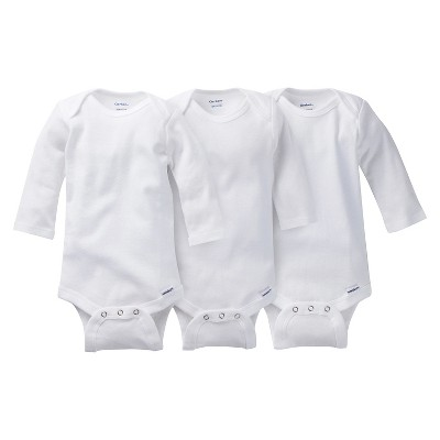 Gerber® Onesies® Newborn 3 Pack Long-Sleeve Onesies - White 6-9 M