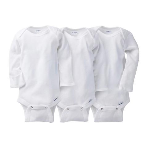 Gerber® Onesies® 3 Pack Long-Sleeve Onesies - White