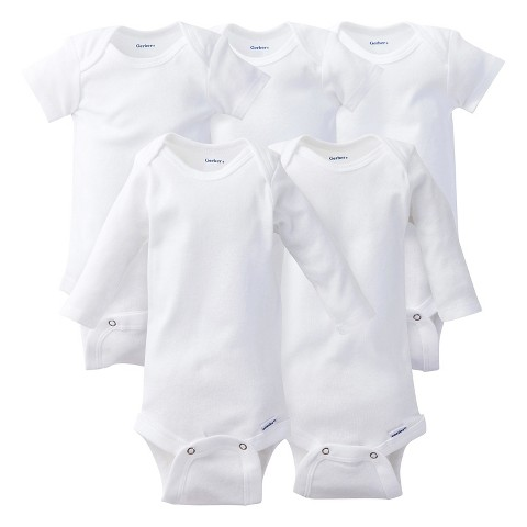 Gerber® Onesies® Newborn 5 Piece Essentials Pack - White 0-3 Months