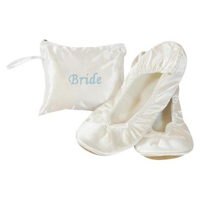 Bridal White Satin Ballet Shoe