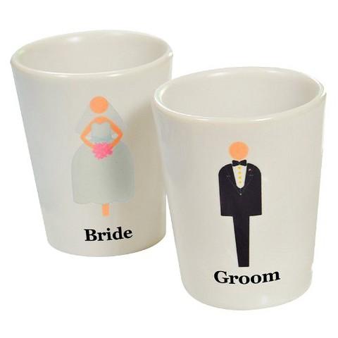 Bride & Groom Shot Glasses