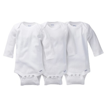 Gerber® Onesies® Newborn 3 Pack Long-Sleeve Onesies