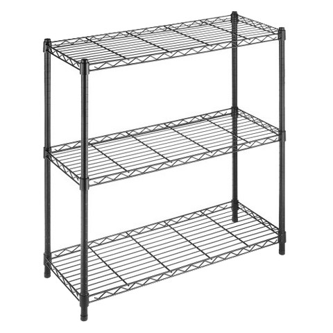 Whitmor Supreme 3 Tier Shelving Black