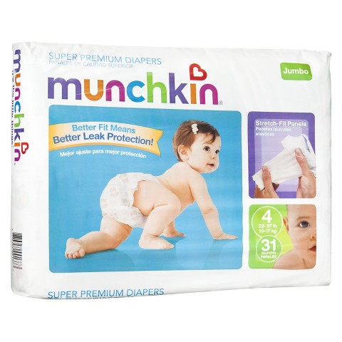 Munchkin Baby Diapers - Jumbo Pack (Select Size)