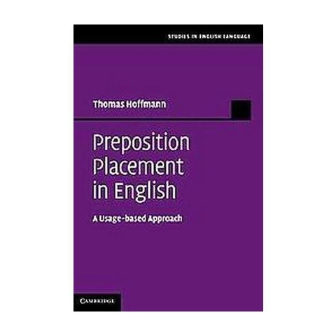Preposition Placement in English (Hardcover)