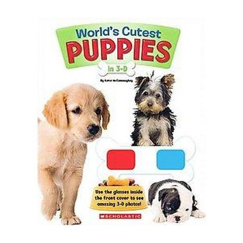World's Cutest Puppies in 3-D (Paperback)