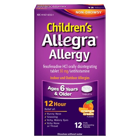 Allegra® Children's Allergy Orally Disintegrating Tablets Orange Crème - 12 Count