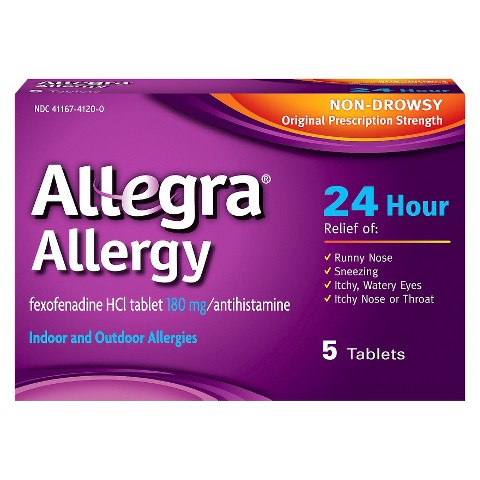 Allegra® 24 Hour Allergy Relief Tablets For Adults