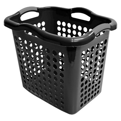 Home Logic Black Laundry Hamper 2-bu.