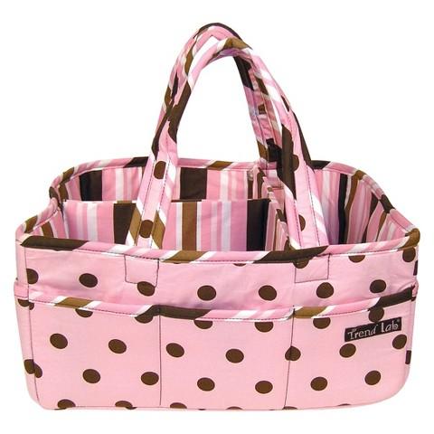 Trend Lab Pink Brown Storage Caddy