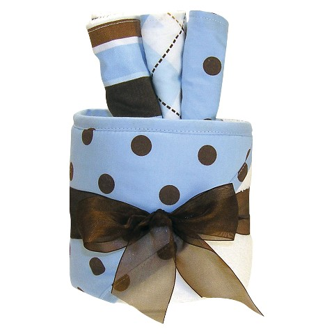 Trend Lab 4 Pc. Hooded Towel and Wash Cloth Gift Cake Set - Max