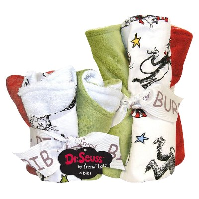 Dr. Seuss by Trend Lab 8pc Bib & Burp Cloth Gift Set - Cat in Hat