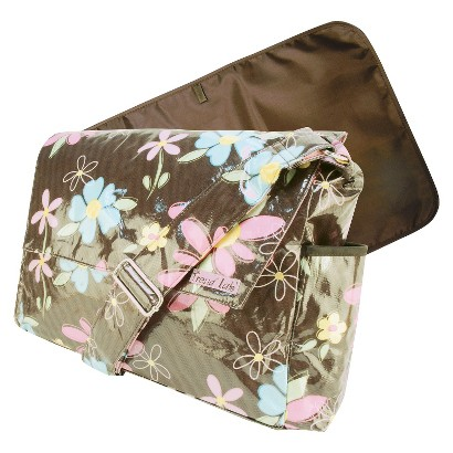 Trend Lab Messenger Diaper Bag - Blossoms