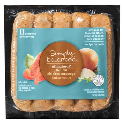 Simply Balanced All Natural Italian Chicken Sausage 12 oz.