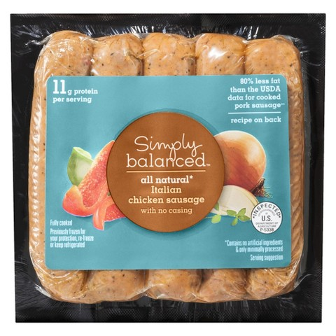 Simply Balanced All Natural Italian Chicken Sausage 12 oz