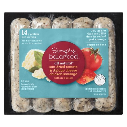 Simply Balanced All Natural Sun-dried Tomato & Asiago Cheese Chicken Sausage - 12 oz