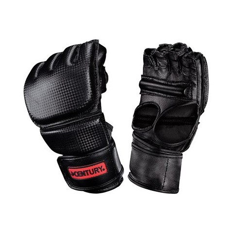Men's Open Palm Boxing Gloves with Clinch Strap - Black/Red (Large/ X Large)