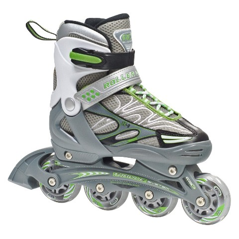 Roller Derby ZX-9 Boy's Skate Pack - Black/Green/ Silver