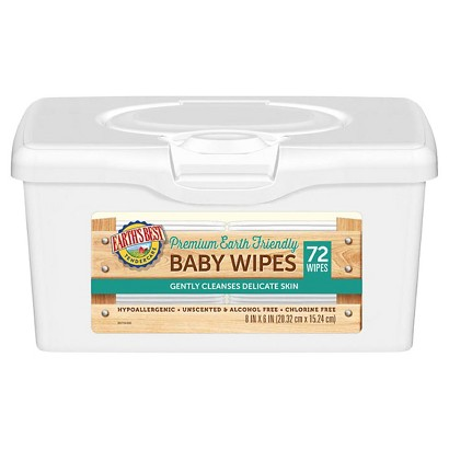 Earth's Best TenderCare Pop Tub Baby Wipes - 12 Packs (72 Count)