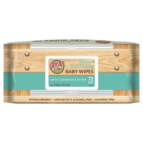 Earth's Best TenderCare Baby Wipe Refills - 72 Count (12 Pack)