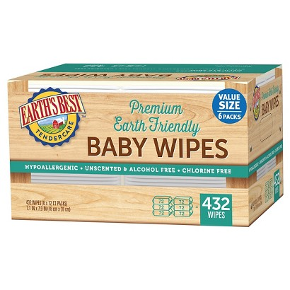 Earth's Best TenderCare Chlorine Free Baby Wipes Refill Pack - 432 Count