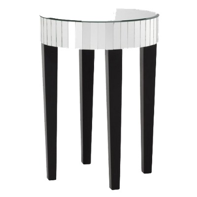 Mirrored Round Living Room Accent Side/End Table