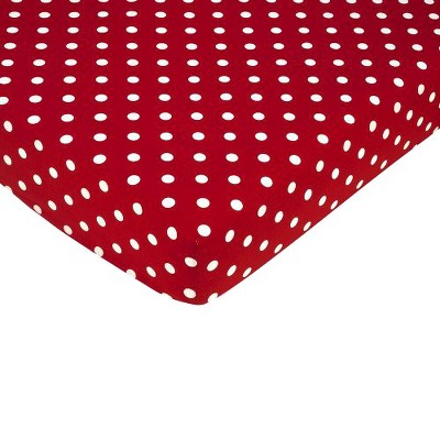 Sweet Jojo Designs Little Ladybug Fitted Crib Sheet - Dot