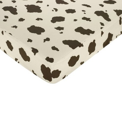 Sweet Jojo Designs Wild West Fitted Crib Sheet - Cow Print