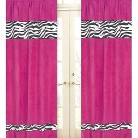 Sweet Jojo Designs Pink Zebra Window Panels