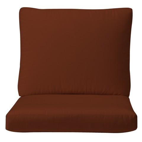 Smith & Hawken® Premium Quality Solenti™ Club Chair Cushion - Rust