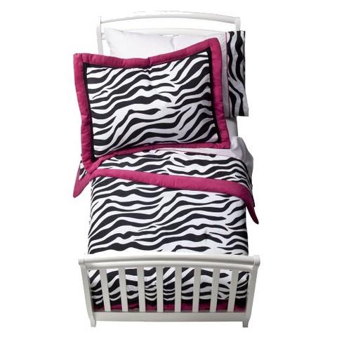 Sweet Jojo Designs Pink Zebra 5 pc. Toddler Bedding Set