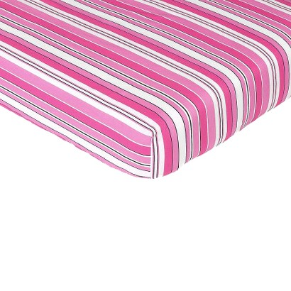 Sweet Jojo Designs Madison Fitted Crib Sheet - Stripe