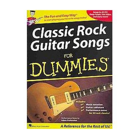 Classic Rock Guitar Songs for Dummies (Paperback)