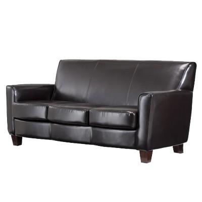 Nolan Bonded Leather Living Room Sofa Espresso - Threshold™