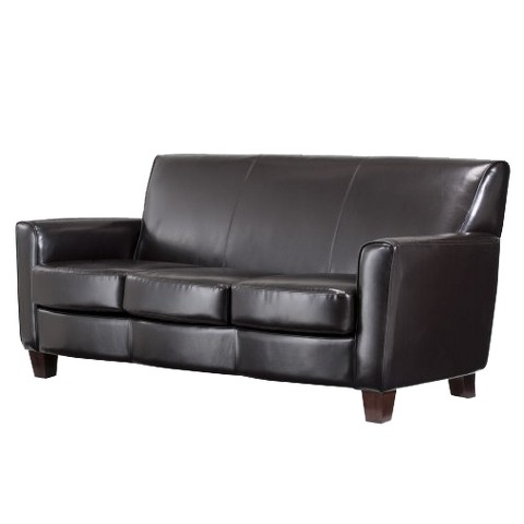 Threshold™ Nolan Bonded Leather Living Room Sofa Tar