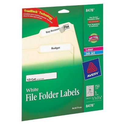 Avery 150ct White Divider Labels